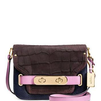 Coach Swagger Small Shoulder Bag in Colorblock Mixed Materials