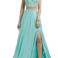 Two Piece Prom Dresses for Wedding Homecoming Formal Bridesmaid Cocktail