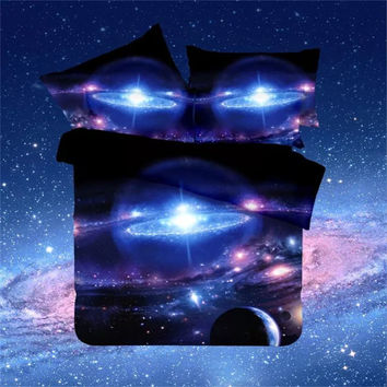 Thick 3D bedding set Star war duvet cover set Galaxy Sky Bed Set Bedspreads Duvet Cover Twin/Queen Size Bed Sheets/bedclothes