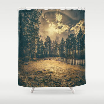 Sonne Shower Curtain by HappyMelvin