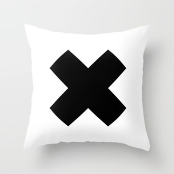 #31 Cross Throw Pillow by Minimalist Forms