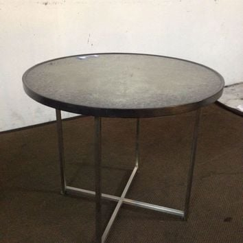 Mid-Century Modern Style Metal and Stone Dining Table