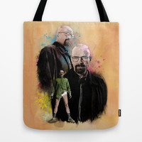 The one who knocks inspired by Breaking Bad Tote Bag by Purshue Feat Sci Fi Dude