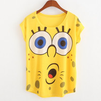 Cute Minions Cartoon Emoji Printed Casual T Shirt