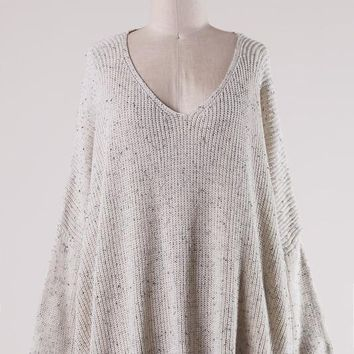 Spotted Cable Knit Sweater (Multiple Colors Available)
