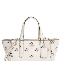 COACH 'Mini Crosby' Floral Print Grosgrain Leather Tote | Nordstrom