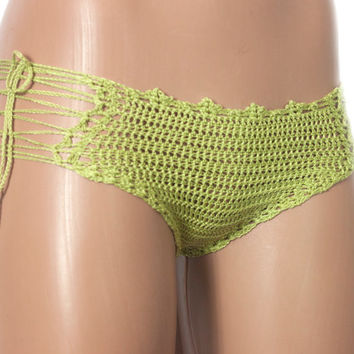Crochet Mint Bikini BeachWear 2016 Summer Trends! Sexy Clothes LoveKnittings