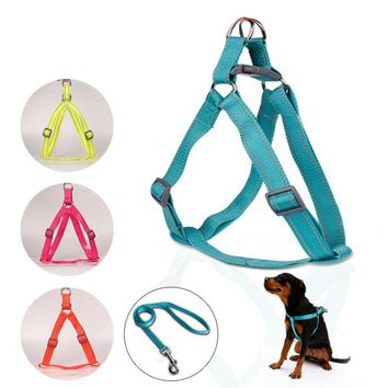Chest Back Traction Belt Nylon Dog Harness