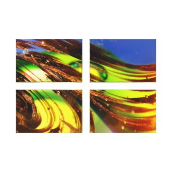 Divided Abstract Quad Panel Canvas Art Print