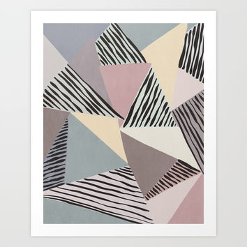 Modern irregular Stripes 03 Art Print by vivigonzalezart