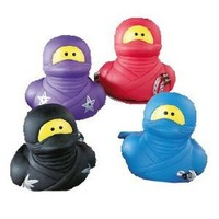 One Dozen (12) ~ Ninja Rubber Duckys