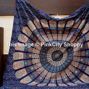 Mandala Tapestries, Tapestries wall hanging, Hippie Dorm Tapestries, Bohemian Tapestries, Hippie wall hanging, Wall Hanging, Indian Tapestry