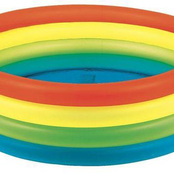 LMFMS9 59' Vibrantly Colored Inflatable Children's Swimming Pool