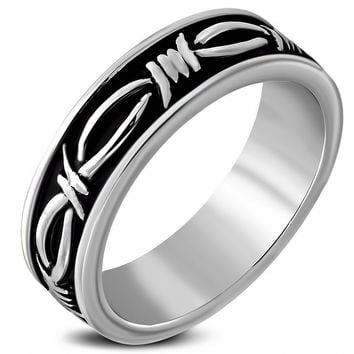 Barbed Wire Biker Ring