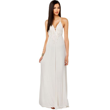 Sexy Deep V Tassels Backless Spaghetti Strap Prom Dress [8044742727]