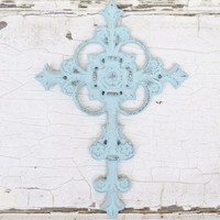 Cast Iron Wall Cross - Choose Your Color - Colorful Cast and Crew