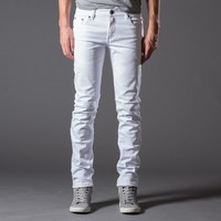 [Polychrom] Skinny Jeans in White Blank Page