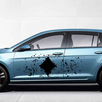 Playing cards symbol car hood decal Playing cards symbol Car Decals Car Truck Side Body Graphics Decal for car kikcar118