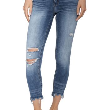 Flying Monkey Raw Hem Crop Skinny