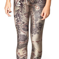 Free Shipping 2014 Hot womans brand clothes digital printed pants black milk MIDDLE EARTH MAP LEGGINGS