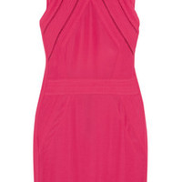 IRO Del cutout neon crepe mini dress – 60% at THE OUTNET.COM