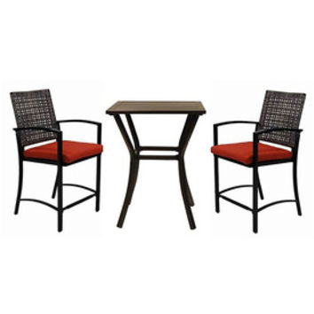 Shop Garden Treasures Lunburg 3-Piece Aluminum Patio Dining Set at Lowe's