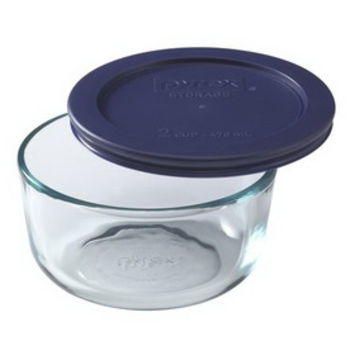 Opentip.com: PYREX 6017399 Simply Store 2 Cup Round Dish w/ Blue Lid