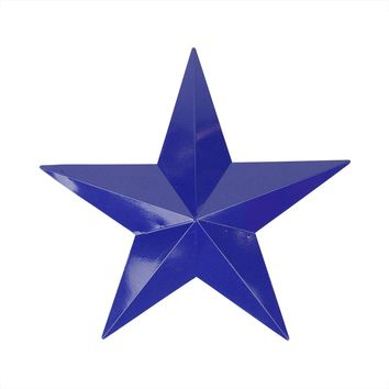 "15"" Navy Blue Country Rustic Star Indoor/Outdoor Wall Decoration"