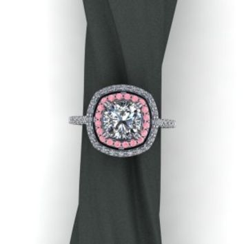 Custom design Diamond Ruby ring – by Elegant Jewelers