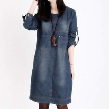 Women's Plus Size Denim Dress