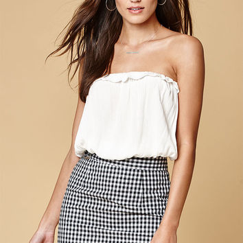 LIONESS Amor Gingham Mini Skirt at PacSun.com