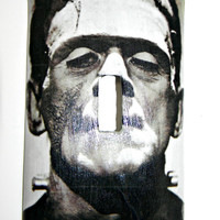 Single Toggle Light Switch Plate Cover--Boris Karloff Classic Frankenstein--Halloween