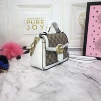 HCXX 1604 Gucci GG Marmont Fashion Mini Handbag 21-15.5-8cm white