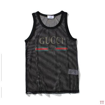 GUCCI Flower Fashion Embroidery Vest Tank Top Shirt Tee