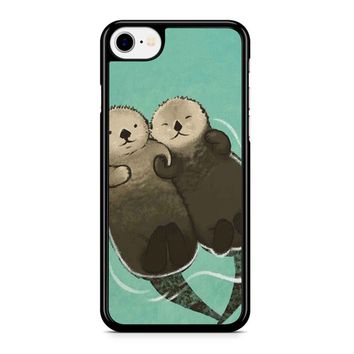 Significant Otters Otters Holding Hands Iphone 8 Case