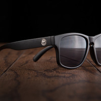 Cruiser Sunglasses: Blackout W/ Metal Emblems