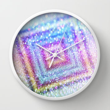 diamond glitter Wall Clock by Haroulita