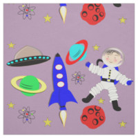Cute Outer Space Themed Fabric