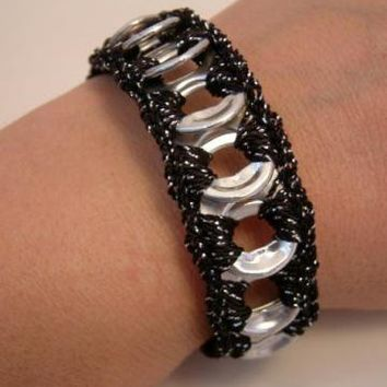 ReCycladelic Pop Top Bracelet Sparkle Black Soda Can Pop by lanmom