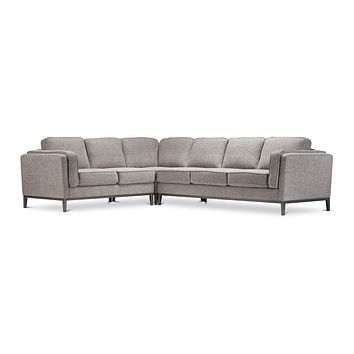 Westley 3pc L-Sectional Sofa :: Configuration: LAF - Loveseat on the Left