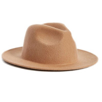 Honey Tan Wide Brim Fedora