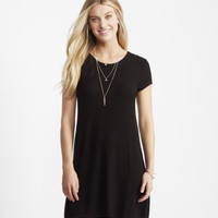 Solid Ribbed Crew-Neck T-Shirt Dress - Aeropostale