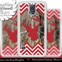 Buckhead Antlers Galaxy S4 case S5 Red Chevron Stripes Real Tree Camo Deer Monogram Galaxy S3 Case Note 2 3 Cover Zig Zag