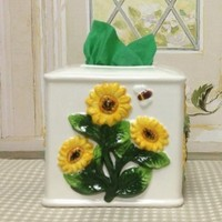 Sunflower Yellow Napkin Holder, Tissue Box