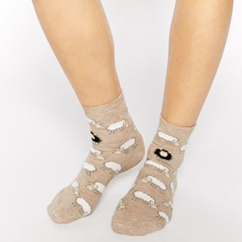 ASOS Ankle Socks With Black Sheep Design