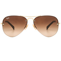 Rimless Aviator in Brown Gradient