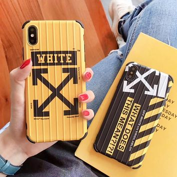 Off White New fashion letter arrow print protective cover phone case