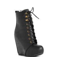 Black Boot Camp Glam Booties