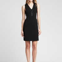Black V Neck Sheath