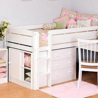 Florence White Midhigh Loft Bed